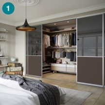 Brilliant project doors and interior for a master bedroom.
